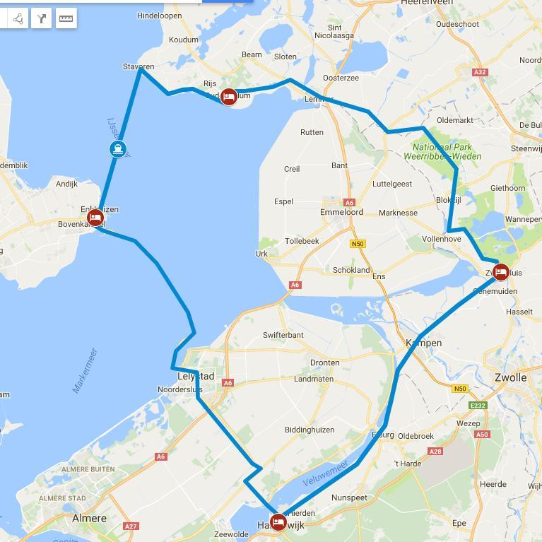 Niederlande Ijsselmeer Karte.Radreisen Niederlande Nördliche Ijsselmeer Tour