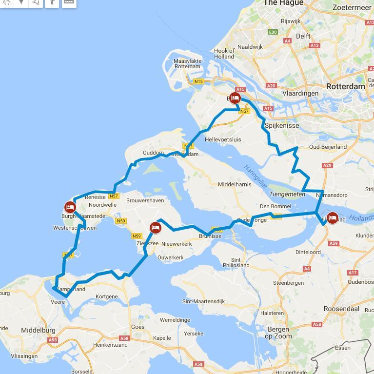 Zeeland Karte Niederlande.Radreisen Niederlande Dünen Und Deltawerke Tour