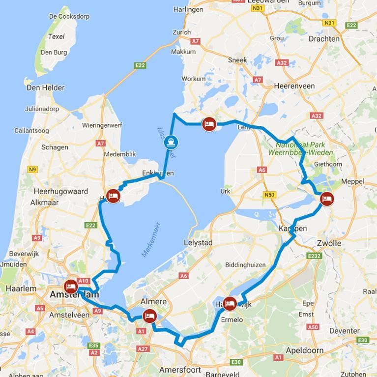 Niederlande Ijsselmeer Karte.Radreisen Niederlande Ijsselmeer Tour