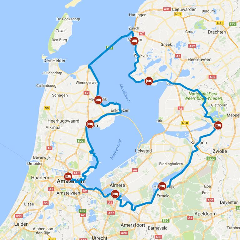Niederlande Ijsselmeer Karte.Radreisen Niederlande Zwischen See Und Meer